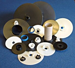 Flange Spools for use with Card or Plastic Tubes